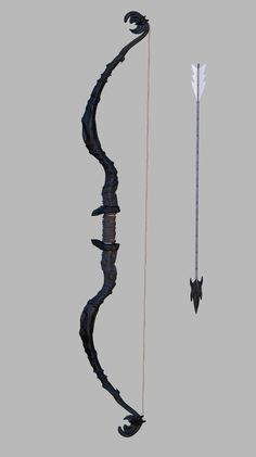 3D Fantasy Bow Arrow - 3D Model