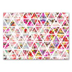 Bright Abstract Floral Triangles Pastel Pattern Large Business Cards (Pack Of 100). I love this design! It is available for customization or ready to buy as is. All you need is to add your business info to this template then place the order. It will ship within 24 hours. Just click the image to make your own!