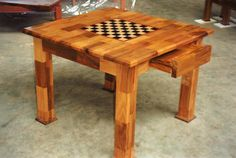 'Checkerboard chess table- I always liked these....