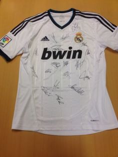Real Madrid Shirt Signed By Full Squad