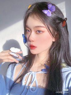 Korean Beauty Girls, Pretty Korean Girls, Cute Korean Girl, Asian Girl, Cute Makeup Looks, Creative Makeup Looks, Korean Makeup Look, Asian Makeup, Aesthetic Makeup