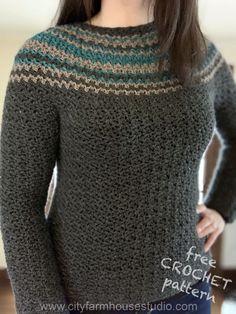Ravelry: Night Moves Sweater pattern by City Farmhouse Studio Crochet Cardigan, Knit Or Crochet, Free Crochet, Crochet Tops, Crochet Sweaters, Crotchet, Top Down, Crochet Woman, Crochet Fashion