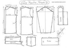 Camisa básica manga larga ... de Marlene Mukai