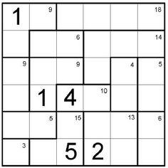 (3.lk -->) Kenken-1-4 - Sijoita numerot 1-6 Kenken ruudukkoon siten, että ne esiintyvät yhden kerran  jokaisella pysty- ja vaakarivillä. Math Problem Solving, Math Problems, Thinking Skills, Escape Room, Occupational Therapy, Trivia, Room Ideas, Play, School