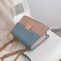 Tianxiao Fresh New Contrast Color Chain Small Square Bag Fashion Wild Simple Shoulder Messenger Bag is designer, see other cute bags on NewChic. Popular Handbags, Cute Handbags, Hermes Handbags, Cheap Handbags, Luxury Handbags, Purses And Handbags, Canvas Handbags, Large Handbags, Leather Handbags