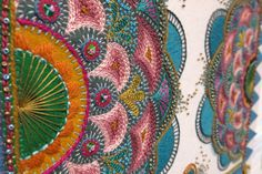 Embroidery detail by