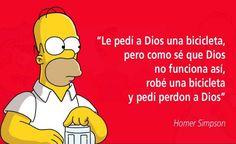 Simpsons Frases, Simpsons Art, Haha Funny, Funny Memes, Jokes, Lol, Funny Stuff, H Comic, Anti Religion