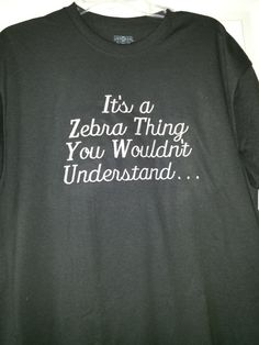 TShirt with Embroidered It's a Zebra Thing you by MakaCraft, $16.99