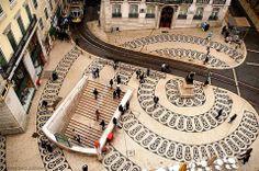 In Portugal you constantly walk on art Chiado Lisbonne Visit Portugal, Spain And Portugal, Portugal Travel, Portugal Trip, Algarve, Portuguese Culture, Voyage Europe, Sierra Nevada, Portsmouth