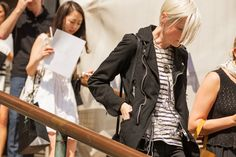 The NYFW Street-Style Looks That Truly Stunned #refinery29  http://www.refinery29.com/2014/09/73987/new-york-fashion-week-2014-street-style-photos#slide18  Kate Lanphear shows off a deconstructed stripe.