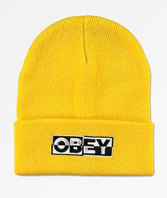 381daa602abf5 Obey Downbeat Yellow Beanie. Obey BeanieKnit BeanieObey CapYellow  BeanieBeanie OutfitCute BeaniesDope ArtRolling StonesClothing Items