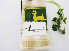 John Deere Cloth Dinner Napkins Cotton Fabric by LizzieMcDesigns