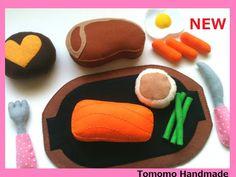 ETSY Pretend food  Play food  Felt food  Dinner by TomomoHandmade, $52.00