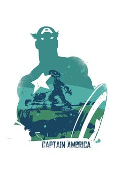 Captain America Poster Design Different sizes by 2ToastDesign