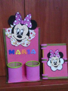 Portalapices y libreta Minnie Mouse