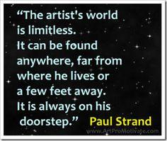 The artist's world..