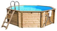"""- Piscina in legno """"Tropica"""" -   Più estetico del metallo o la plastica, il legno è rinnovabile all'infinito!  #piscina #legno #wood"""