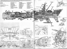 Spaceship schematics are always cool...