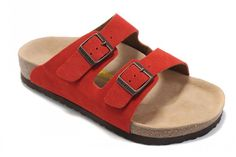 Men's Birkenstock Arizona Sandals Suede-Red