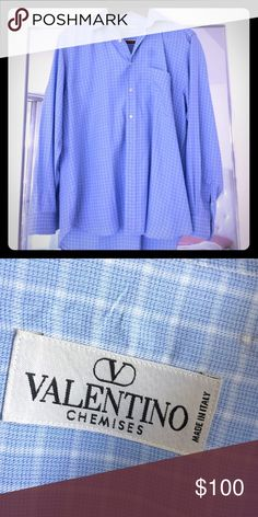 Men's Valentino button up size L Valentino men's button up Size Large retails for $490 (like new condition)-make me an offer Valentino Shirts Casual Button Down Shirts