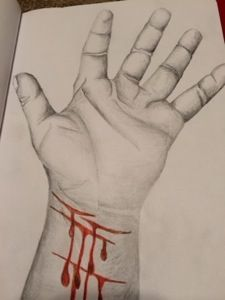 Easy Self Harm Drawings New #selfharm coping tool. i trace my hand then si on