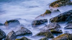Slow Motion Rock On The Sea