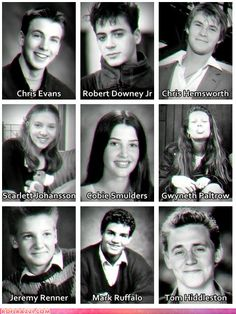 "funny celebrity pictures - ""The Avengers"" Cast When They Were Young"