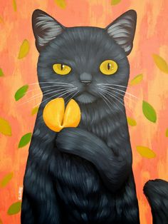 CAT AND FORTUNE COOKIE Art Print