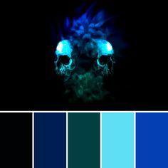 House Color Palettes, Color Schemes Colour Palettes, Dark Color Palette, Colour Pallete, Good Color Combinations, Color Combos, Viking Museum, Blue Website, Fantasy Bedroom