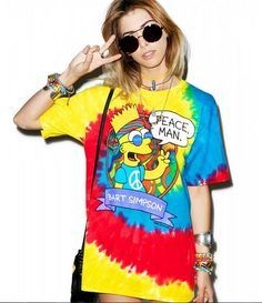 This Tie-Dye T-Shirt Features a Very Groovy Bart Simpson #cartoons trendhunter.com