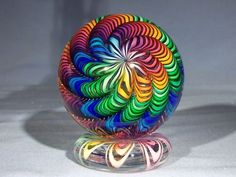 Swirled color and glass paperweight