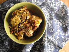 Frango estufado com abóbora e cominhos - http://gostinhos.com/frango-estufado-com-abobora-e-cominhos/