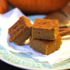 Coconut Flour Pumpkin Bars. These bars are nut-free, grain-free, and taste JUST like pumpkin pie filling!