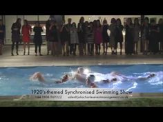 Watch our water ballet show which is available to book internationally for corporate events. Ballet Shows, Synchronized Swimming, Swimmers, Ballerinas, Under The Sea, Corporate Events, 1920s, Seaside, Ocean