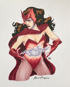 "kevinwada: "" Scarlet Witch sketch ;) #thoughtbubble """