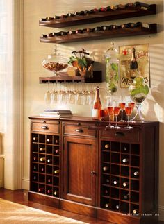 Creative Home Bar 30 beautiful home bar designs furniture and decorating ideas Holman Entertaining Shelf Set Of 2 One Of Each Rustic Wood