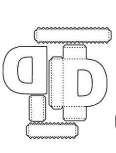 ALFABETO EM MOLDES DE CAIXAS PARA IMPRIMIR E MONTAR - FESTAS - ANIVERSÁRIO - MOLDES DE LETRAS CAIXAS PARA MONTAR - Alfabetos Lindos 3d Alphabet, Alphabet Templates, 3d Letters, Letters And Numbers, 3d Cuts, Paper Art, Paper Crafts, Box Patterns, Cardboard Paper