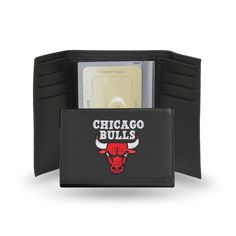 Chicago Bulls Wallet Trifold Embroidered Leather