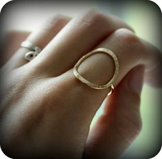 junedesigns etsy (forged open circle ring)