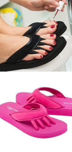 Pedicure flip flops. Genius!