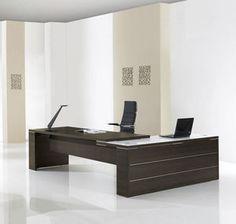 escritorio de director / moderno / de melamina / de cristal