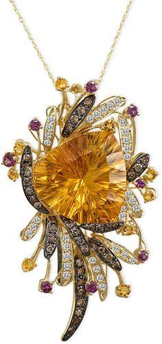Le Vian Citrine (19-7/8 ct. t.w.), Garnet (1/2 ct. t.w.), White Topaz (1/2 ct. t.w.), Chocolate Diamond (3/4 ct. t.w.) & #Diamond (5/8 ct t.w.) in 14k Gold