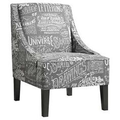 Chalkboard Shadow Accent Chair - Right 2 Home