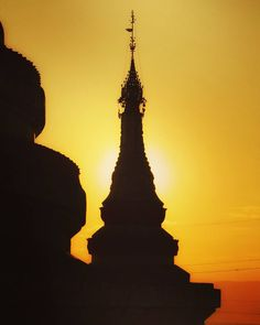 #Myanmar temples in #silhouette. I shot these as part of my Irrawaddy river cruise.