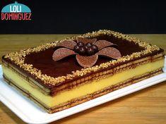TARTA DE FLAN CON GALLETAS Y CHOCOLATE, RECETA SIN HORNO Y MUY FÁCIL. Tarta que se prepara con ganache de chocolate, galletas y flan instantáneo con un toque de queso