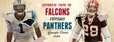 Falcons vs. Panthers throwback game