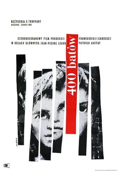 LES 400 COUPS de François Truffaut (1960) #poster #affiche #pologne #polish #truffaut #french #film #poland #france #francais