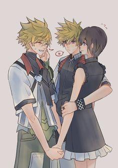 Roxas Kingdom Hearts, Kindom Hearts, Flower Aesthetic, Anime Love, Final Fantasy, Fan Art, Drawings, Sora, Games