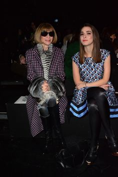 Anna Wintour brought her daughter, Bee, to the Prabal Gurung show on Saturday.
