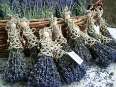 lavender Dolls Find all the information about Growing lavender. Lavender Wands, Lavender Crafts, Lavender Wreath, Lavender Garden, Lavender Blue, Lavender Flowers, Dried Flowers, Lavander, Lavender Fields